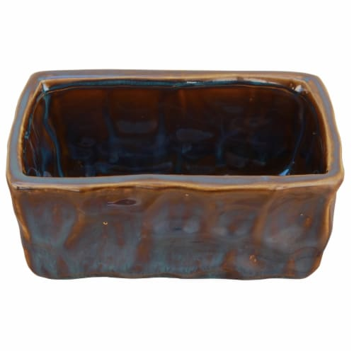 Cheungs 4760S 3 lbs Ceramic Blue Planter Perspective: front
