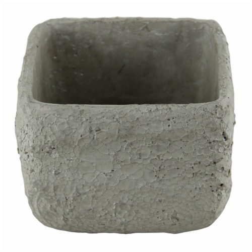 Cheungs 5095 3 lbs Square Cement Planter with Arrow Design Perspective: front