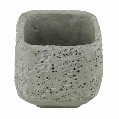 Cheungs 5098L 3.5 lbs Square Cement Planter Perspective: front