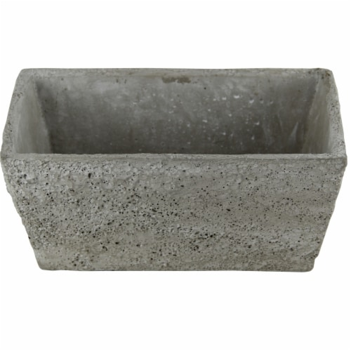 Cheungs 5096 4 lbs Rectangular Cement Planter Perspective: front
