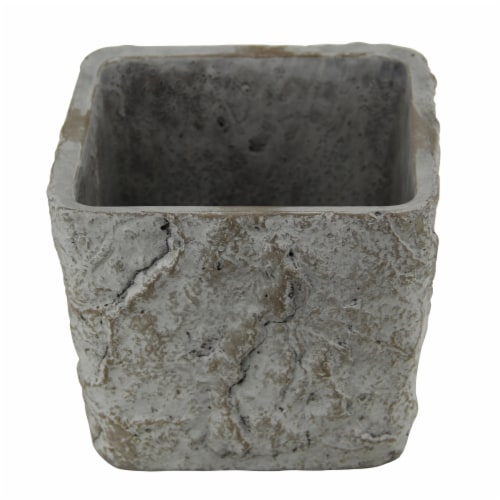 Cheungs 5099L 5 lbs Square Tapered Cement Planter Perspective: front
