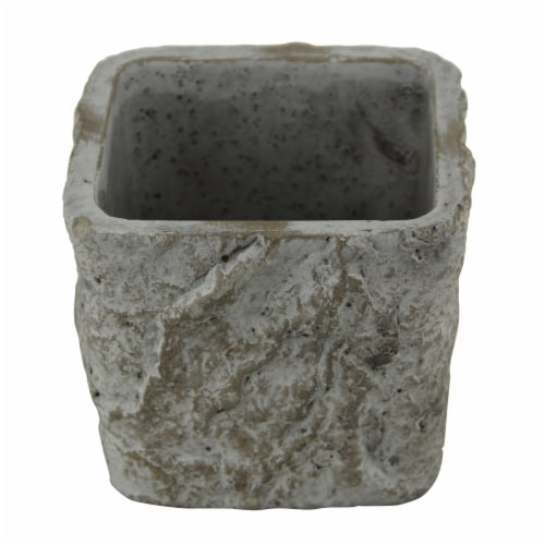 Cheungs 5099S 3.25 lbs Square Tapered Cement Planter Perspective: front