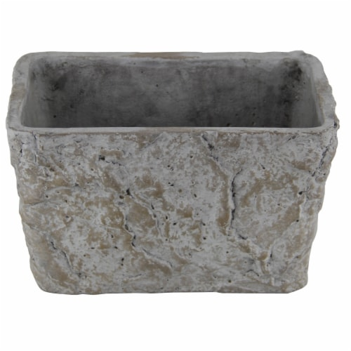 Cheungs 5097 5 lbs Rectangular Cement Planter Perspective: front