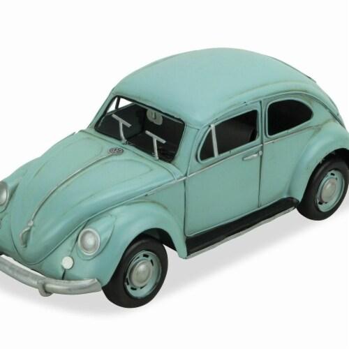 Cheungs JA-0323LB Blue Volkswagen Beetle Handmade Toy Perspective: front
