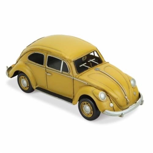 Cheungs JA-0323Y Yellow Volkswagen Beetle Handmade Toy Perspective: front