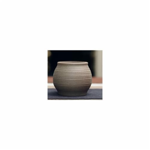 Cheungs 5662GR Curved Ceramic Planter, Gray Perspective: front