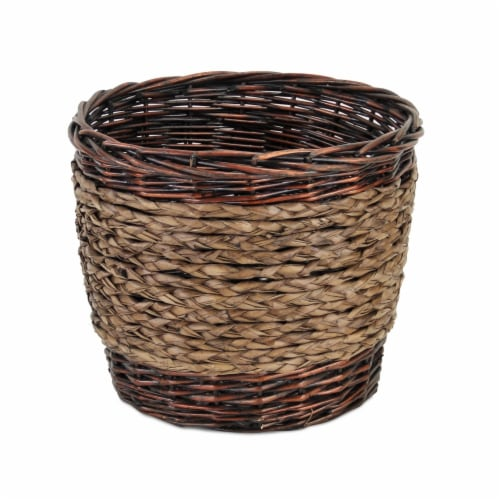 Cheungs UW-9099R-12DSMK 12 in. Dark Smoke Lined Willow Planter Perspective: front