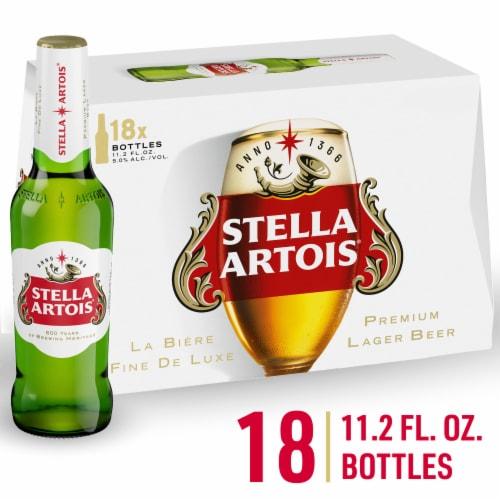Stella Artois Belgium Beer Perspective: front