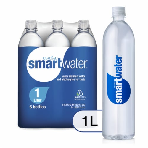 Smartwater Vapor Distilled Water with Electrolytes Perspective: front