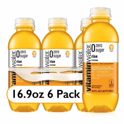 Vitaminwater Zero Sugar Rise Orange Nutrient Enhanced Water Beverage Perspective: front