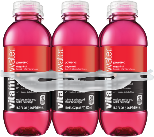 Vitaminwater Power-C Dragonfruit Nutrient Enhanced Water Beverage Perspective: front