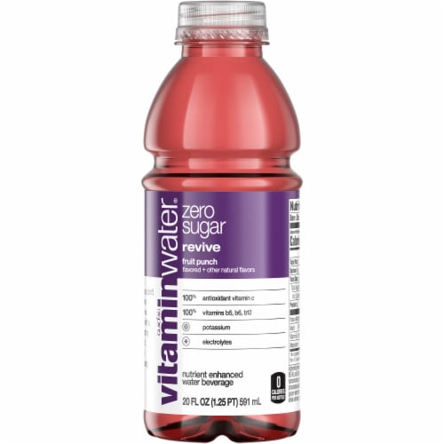Vitaminwater Zero Revive Fruit Punch Nutrient Enhanced Water Beverage Perspective: front