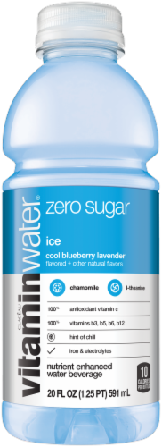 Vitaminwater Ice Cool Blueberry Lavender Nutrient Enhanced Water Beverage Perspective: front