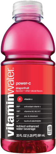 Vitaminwater Power-C Dragonfruit Flavored Nutrient Enhanced Water Beverage Perspective: front