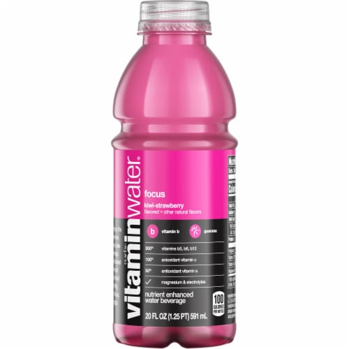 Vitaminwater Focus Kiwi-Strawberry Flavored Nutrient Enhanced Water Beverage Perspective: front