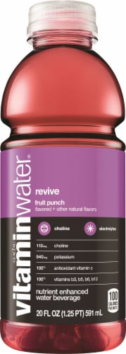 Vitaminwater Revive Fruit Punch Flavored Nutrient Enhanced Water Beverage Perspective: front