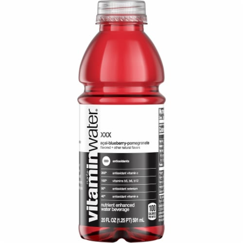 Vitaminwater XXX Acai-Blueberry-Pomegranate Nutrient Enhanced Water Beverage Perspective: front