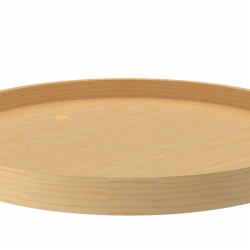 Rev A Shelf LD-4BW-001-24SB-1 24 in. Banded Wood Full Circle Lazy Susan with Steel Bearing  N Perspective: front