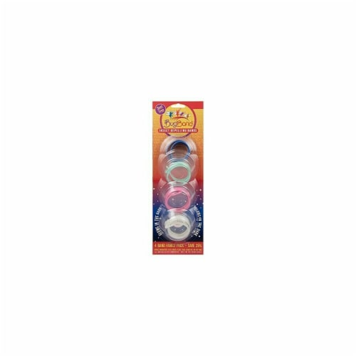 Bug Band 88206 Wristband Family Pak Blister Card - Assorted Colors- 12 Packs of 4 Perspective: front