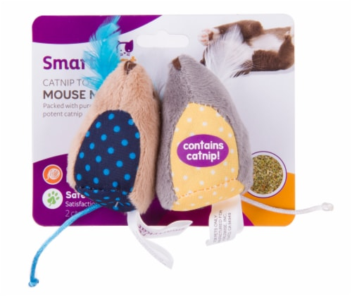 SmartyKat Mouse Mates Catnip Toys Perspective: front