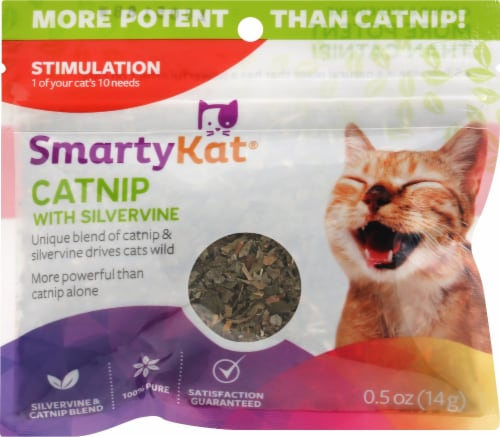 SmartyKat Catnip with Silvervine Perspective: front