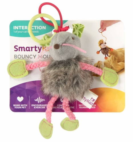 SmartyKat Interaction Bouncy Mouse Cat Toy Perspective: front