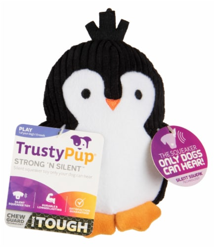 Trustypup Penguin Strong 'N Silent Dog Toy Perspective: front