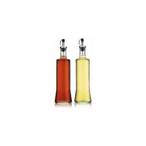 Home Essentials 410 Home Essential Round 20 Oz Oil & Vinegar Set Perspective: front