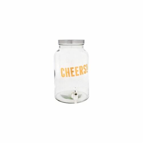 Home Essentials & Beyond Posh Cheers 1.5 Gallon Beverage Dispenser Perspective: front