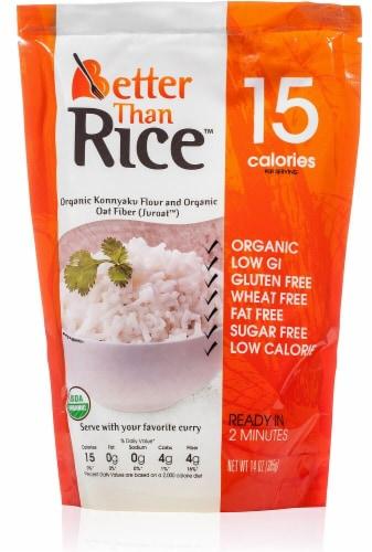 Better Than Rice Organic Konnyaku Flour & Organic Oat Fiber Rice Perspective: front