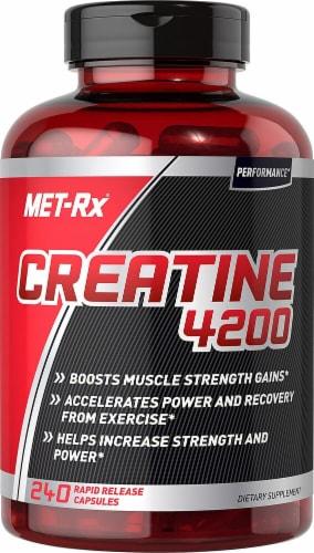 MET-Rx Creatine 4200 Capsules Perspective: front