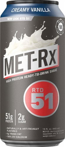 MET-Rx  Protein Plus RTD 51   Creamy Vanilla Perspective: front