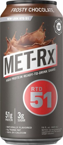 MET-Rx  RTD 51   Frosty Chocolate Perspective: front