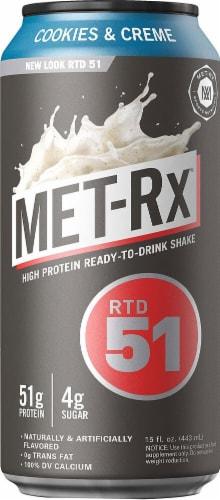 MET-Rx  RTD 51   Cookies & Creme Perspective: front