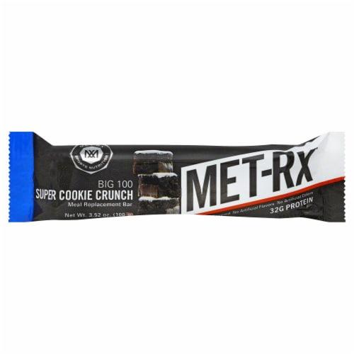 MET-Rx Big 100 Super Cookie Crunch Meal Replacement Bar Perspective: front
