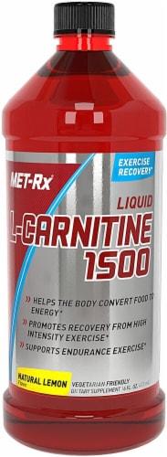 MET-Rx  L-Carnitine 1500   Natural Lemon Perspective: front