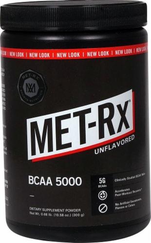 MET-Rx  BCAA 5000   Unflavored Perspective: front