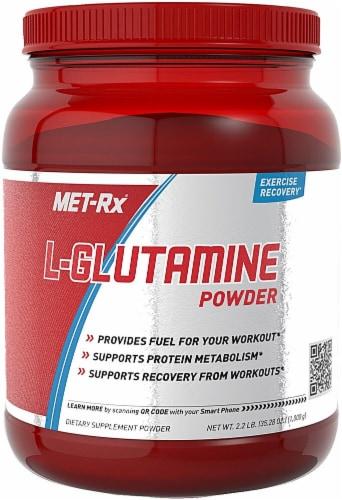 MET-Rx  L-Glutamine Powder Perspective: front