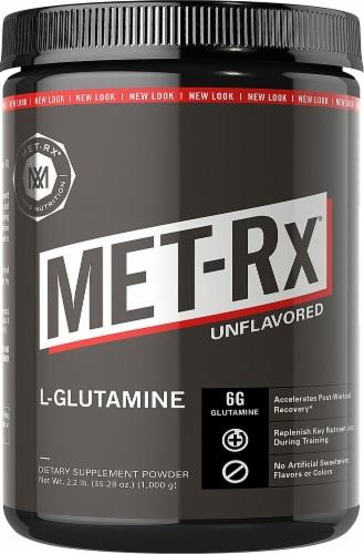 MET-Rx  L-Glutamine Powder   Unflavored Perspective: front
