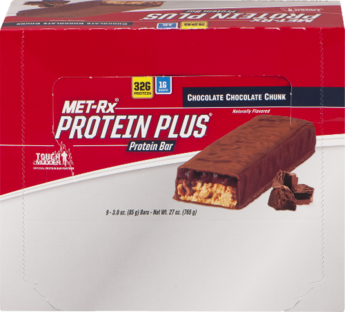 Met-Rx Protein Plus Chocolate Chocolate Chunk Bars Perspective: front