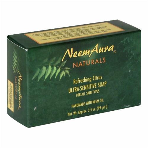 Neem Aura Naturals Refreshing Citrus Ultra Sensitive Soap Perspective: front