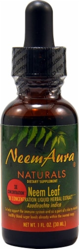 Neem Aura Naturals Neem Leaf 3X Concentration Liquid Herbal Extract Perspective: front