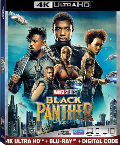 Black Panther (2018 - 4K Ultra HD/Blu-Ray/Digital Code) Perspective: front