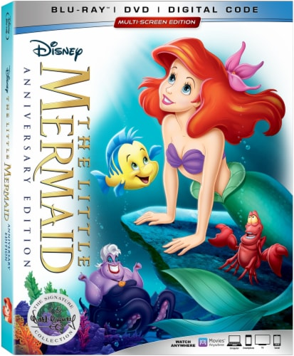 The Little Mermaid 30th Anniversary Edition (2019 - Blu-Ray/DVD/Digital Code) Perspective: front