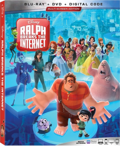 Ralph Breaks the Internet (2018 - Blu-Ray/DVD/Digital Code) Perspective: front