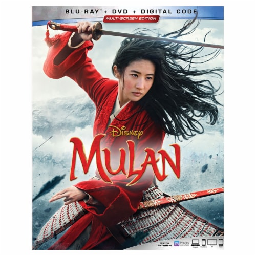 Mulan Live Action (2020 - Blu-Ray/DVD/Digital Code) Available 11/10/20 Perspective: front