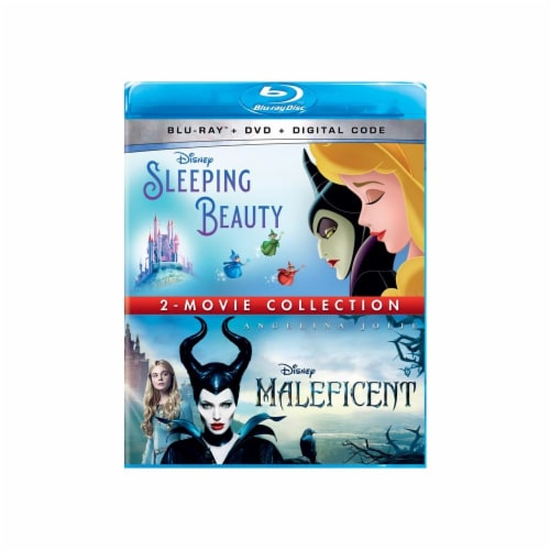 Sleeping Beauty & Maleficent 2-Movie Collection (Blu-Ray/DVD/Digital Code) Perspective: front
