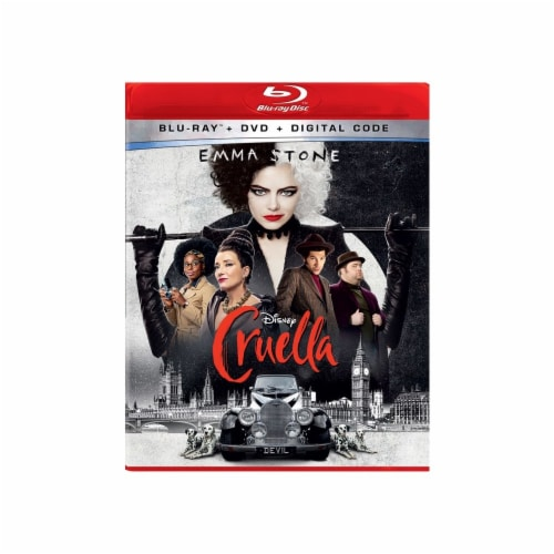 Cruella (Blu-Ray/DVD/Digital Code) Perspective: front