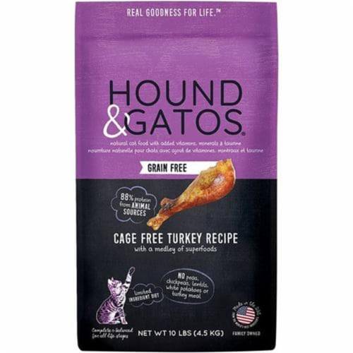 Hound 50300655 2 lbs Cat Grain-Free Turkey Perspective: front