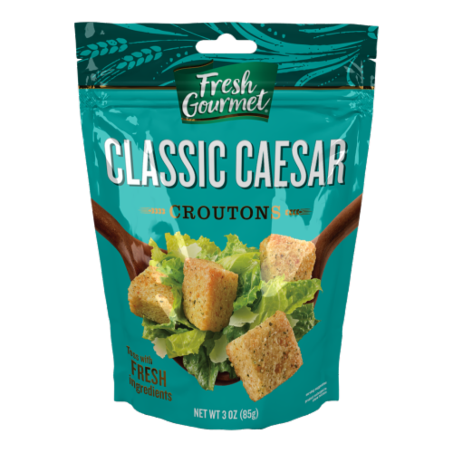 Fresh Gourmet Classic Caesar Croutons Perspective: front